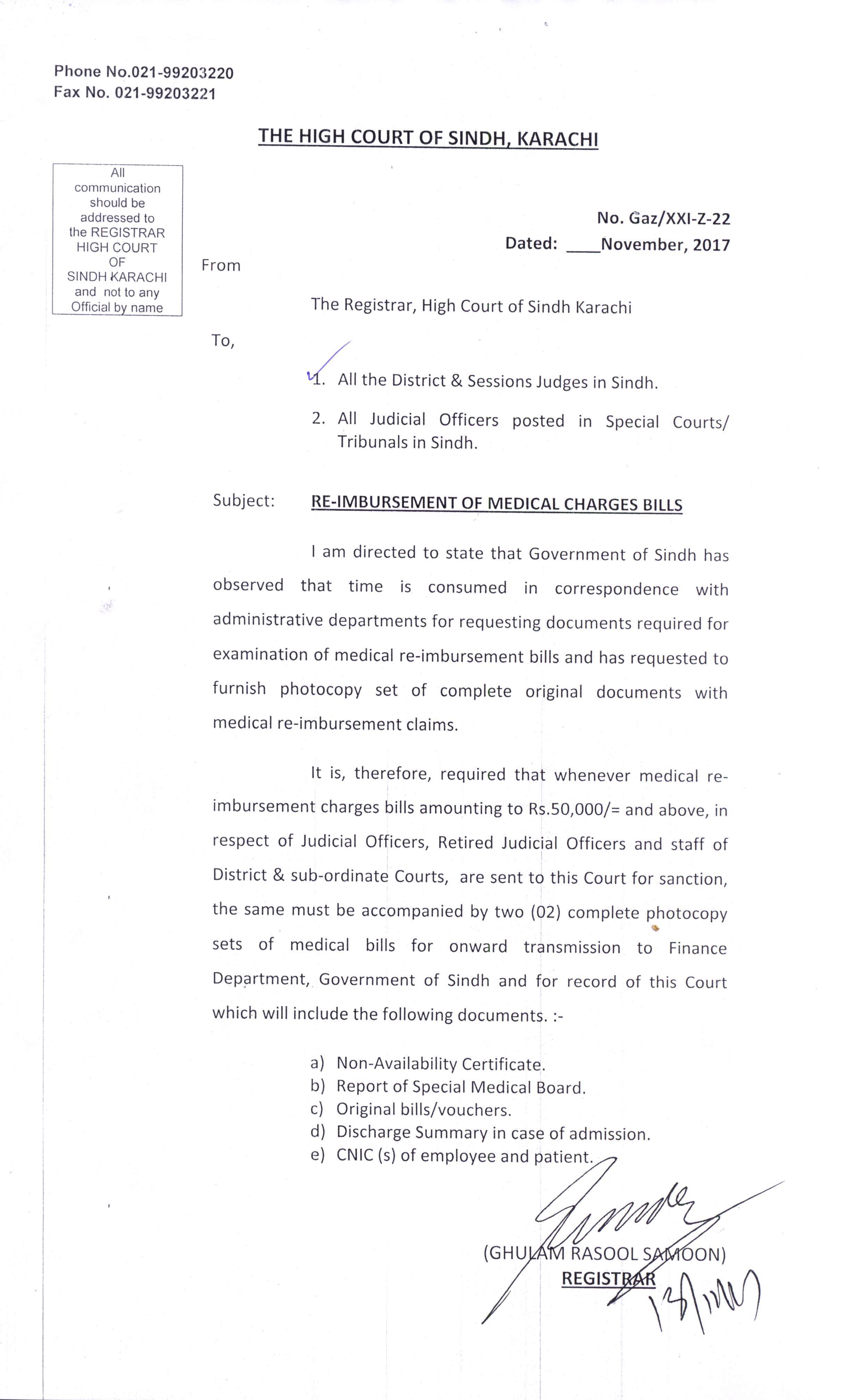 letter dated 13 nov 2017