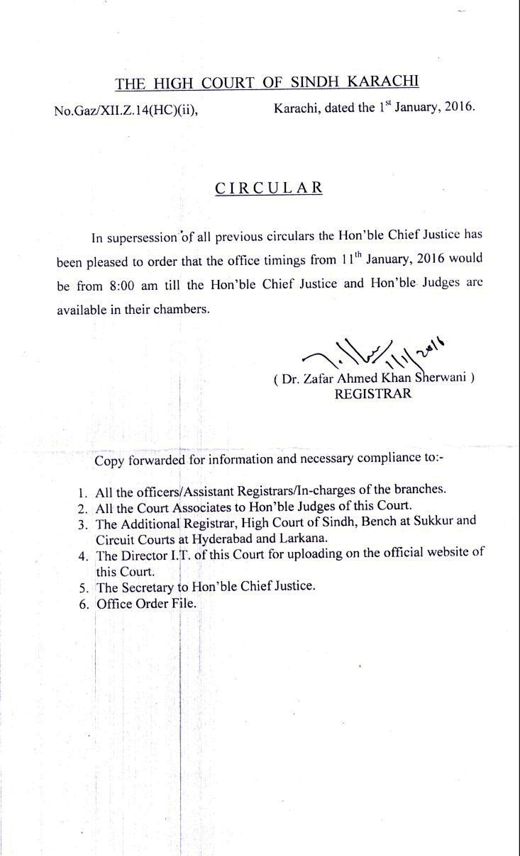 Welcome to high court of sindh circular no gazxiiz14hcii karachi dated the 1st january 2016 spiritdancerdesigns Image collections
